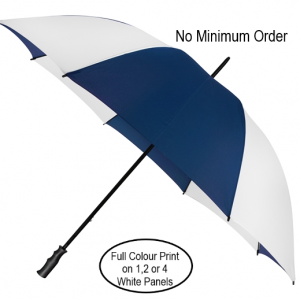two colour navy blue and white promotional golf umbrella